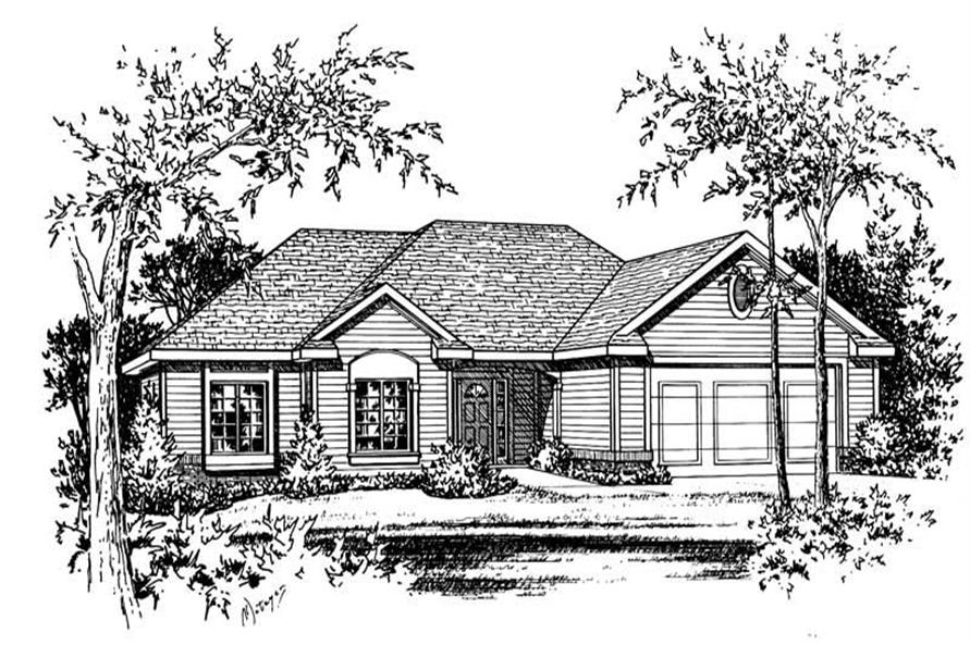House plan 120 1056 3 bedroom 2100 sq ft ranch for 2100 sq ft house plans