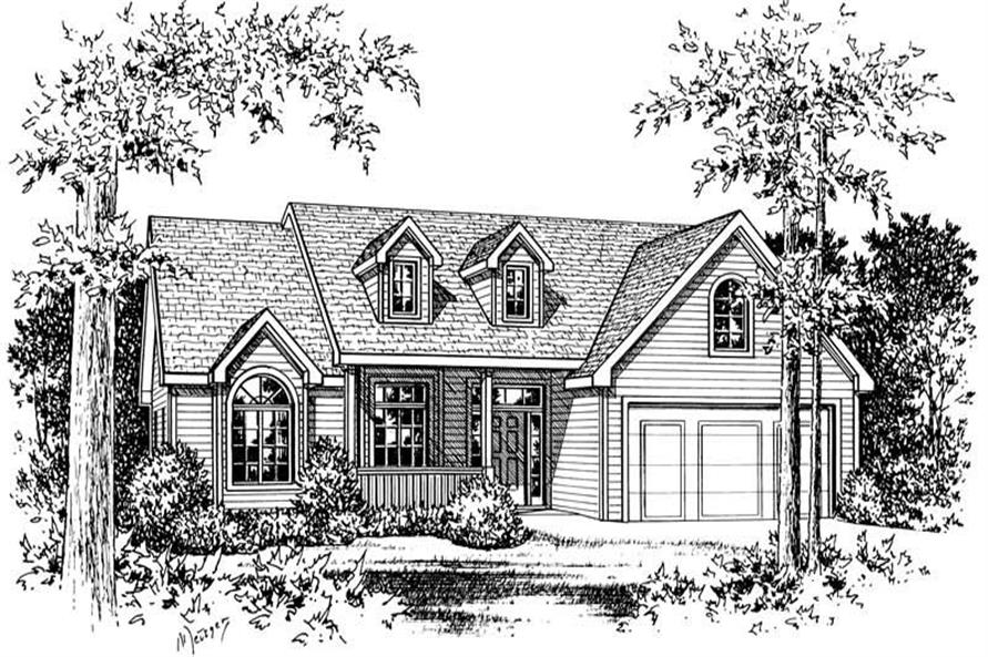 Front Elevation of this 3-Bedroom,1875 Sq Ft Plan -1875