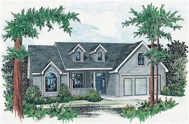 3-Bedroom, 1875 Sq Ft Country House Plan - 120-1057 - Front Exterior