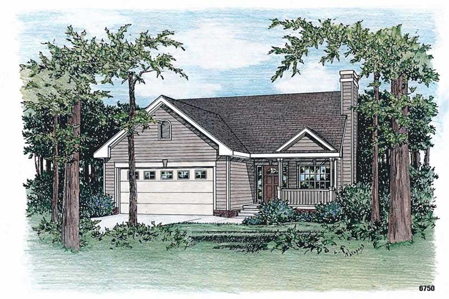 3-Bedroom, 1311 Sq Ft Bungalow House Plan - 120-1058 - Front Exterior