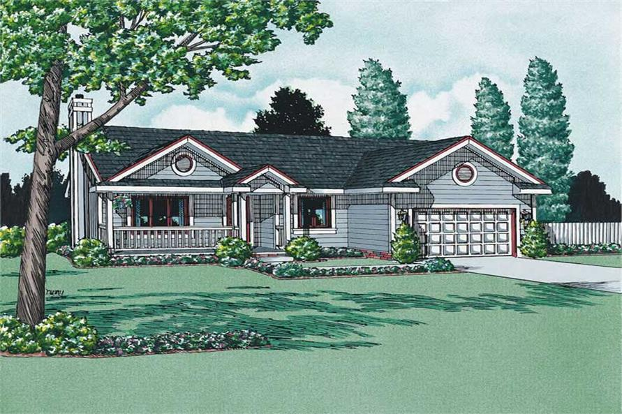 Main image for house plan # 5731