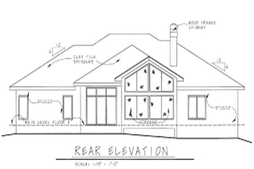 Home Plan Rear Elevation of this 3-Bedroom,2647 Sq Ft Plan -120-1063