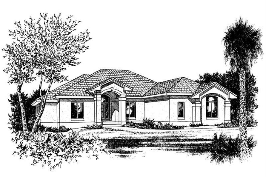 Front Elevation of this 3-Bedroom,2647 Sq Ft Plan -2647