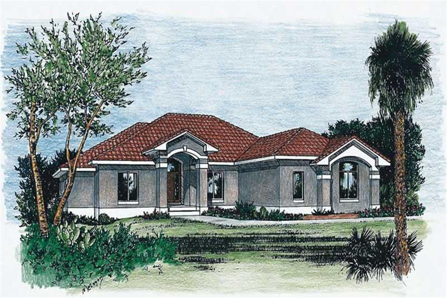 3-Bedroom, 2647 Sq Ft Coastal Home Plan - 120-1063 - Main Exterior
