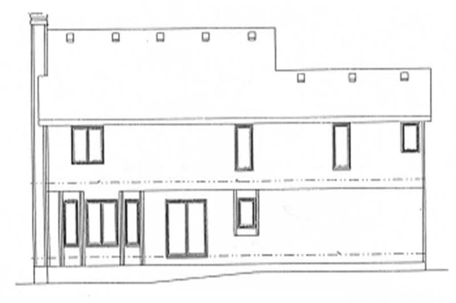 Home Plan Rear Elevation of this 4-Bedroom,2298 Sq Ft Plan -120-1064