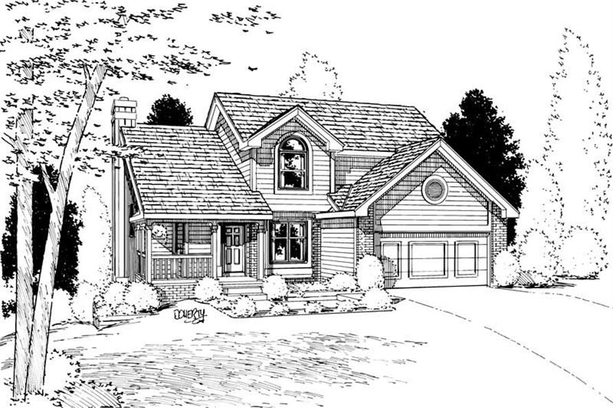 4-Bedroom, 1885 Sq Ft Country House Plan - 120-1065 - Front Exterior