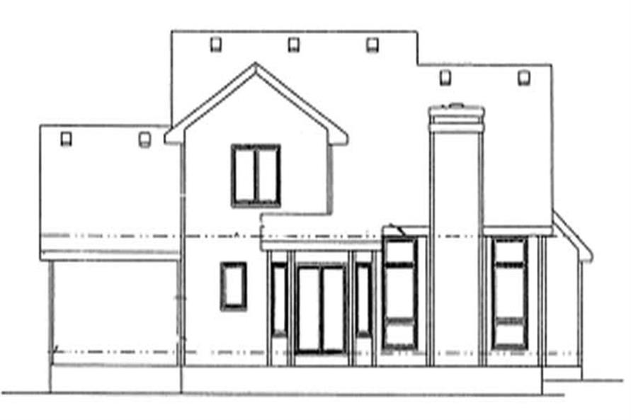 Home Plan Rear Elevation of this 4-Bedroom,2016 Sq Ft Plan -120-1067