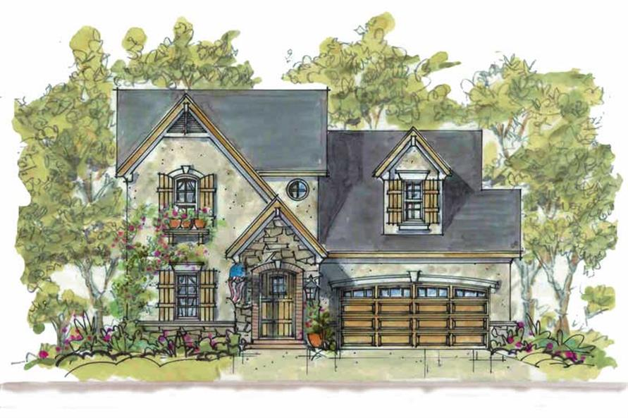 3-Bedroom, 1928 Sq Ft European Home Plan - 120-1077 - Main Exterior