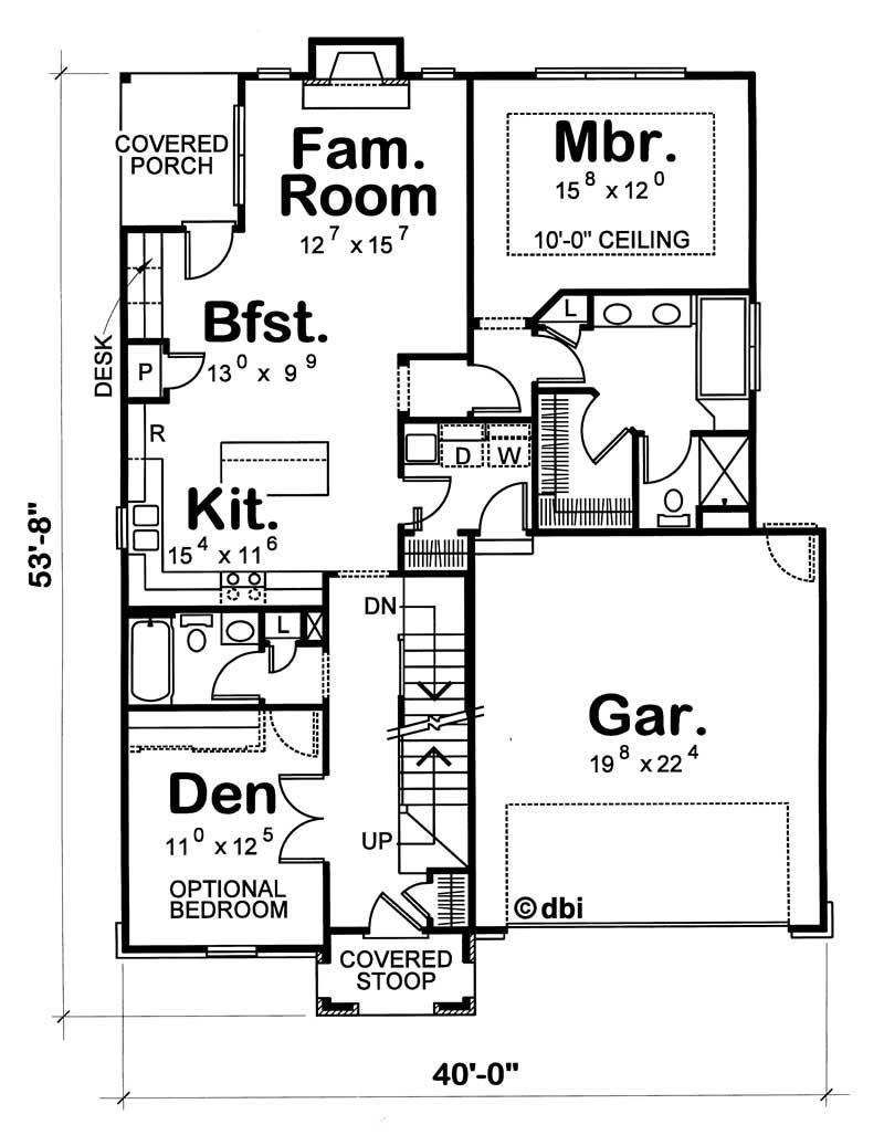 House plan 120 1077 3 bedroom 1928 sq ft european for 1077 marinaside crescent floor plan