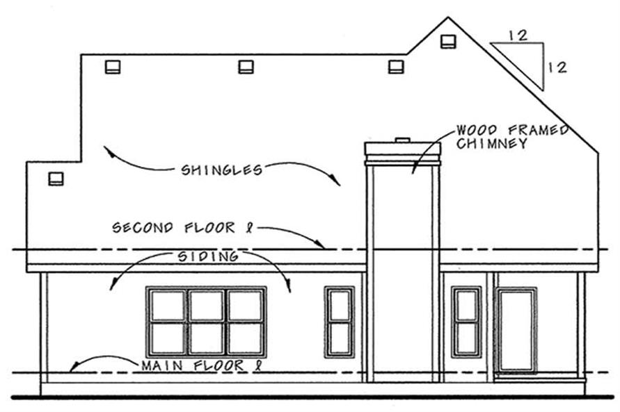 Home Plan Rear Elevation of this 3-Bedroom,1905 Sq Ft Plan -120-1078