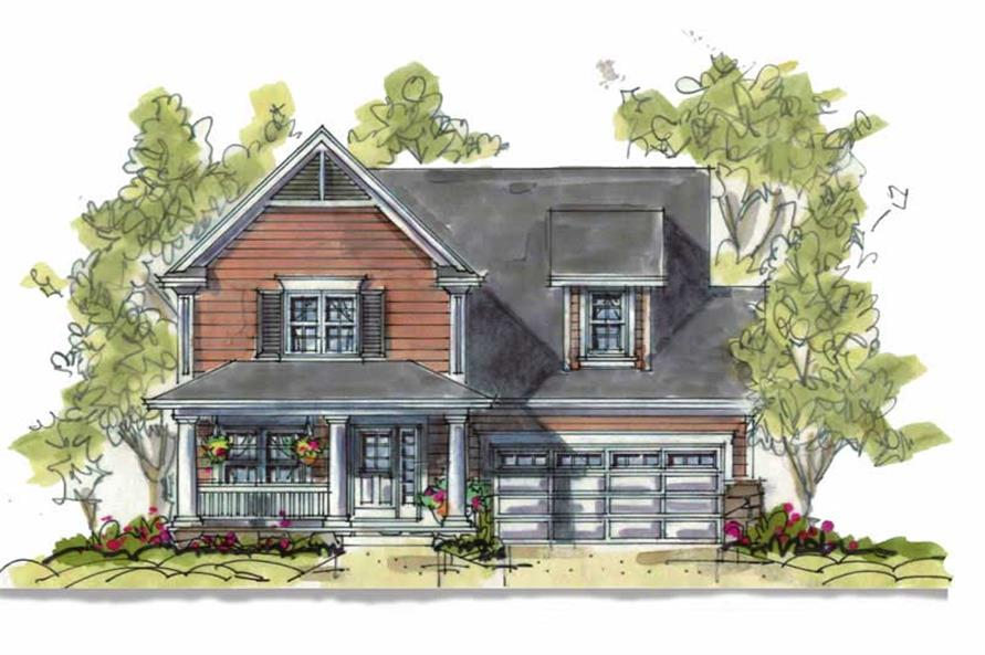 3-Bedroom, 1905 Sq Ft Country Home Plan - 120-1078 - Main Exterior
