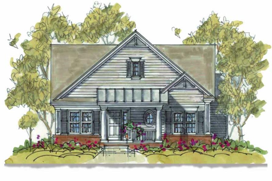 2-Bedroom, 1375 Sq Ft Small House Plans - 120-1079 - Main Exterior