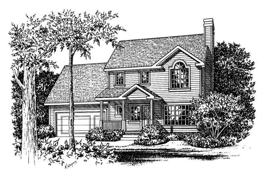 3-Bedroom, 1339 Sq Ft Country House Plan - 120-1080 - Front Exterior