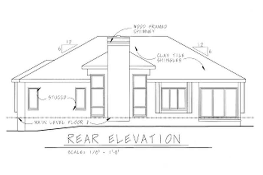 Home Plan Rear Elevation of this 3-Bedroom,1666 Sq Ft Plan -120-1082