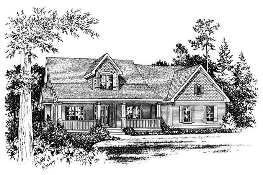 4-Bedroom, 2687 Sq Ft Traditional House Plan - 120-1083 - Front Exterior