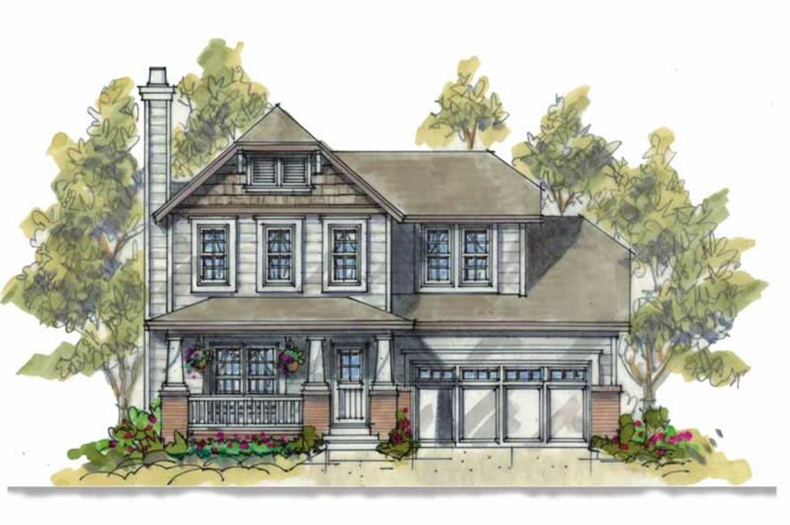 3-Bedroom, 1634 Sq Ft Country Home Plan - 120-1088 - Main Exterior