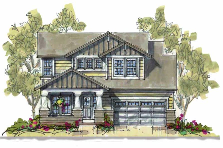 4-Bedroom, 2164 Sq Ft Bungalow Home Plan - 120-1089 - Main Exterior