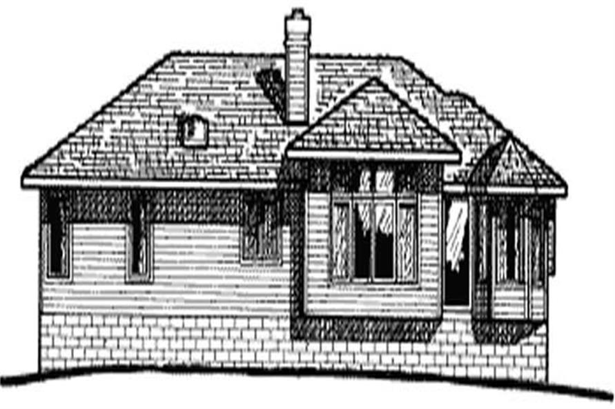 Home Plan Rear Elevation of this 3-Bedroom,1696 Sq Ft Plan -120-1093
