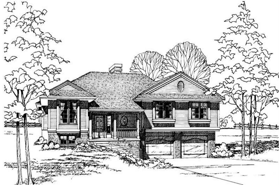3-Bedroom, 1696 Sq Ft Small House Plans - 120-1093 - Main Exterior