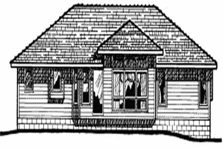 Home Plan Rear Elevation of this 3-Bedroom,1392 Sq Ft Plan -120-1094