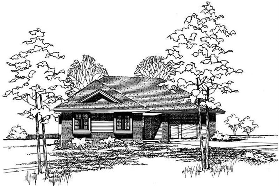Home Plan Rendering of this 3-Bedroom,1392 Sq Ft Plan -120-1094