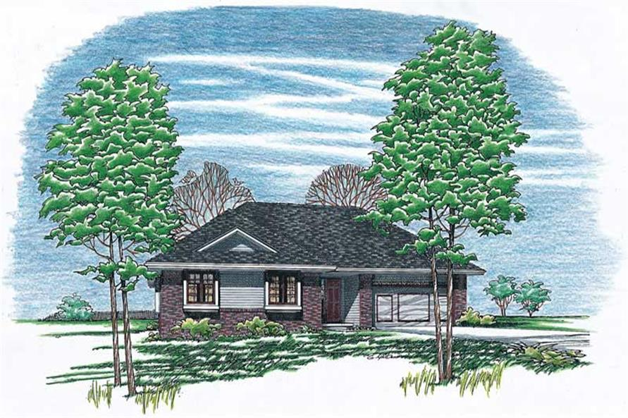 3-Bedroom, 1392 Sq Ft Small House Plans - 120-1094 - Main Exterior