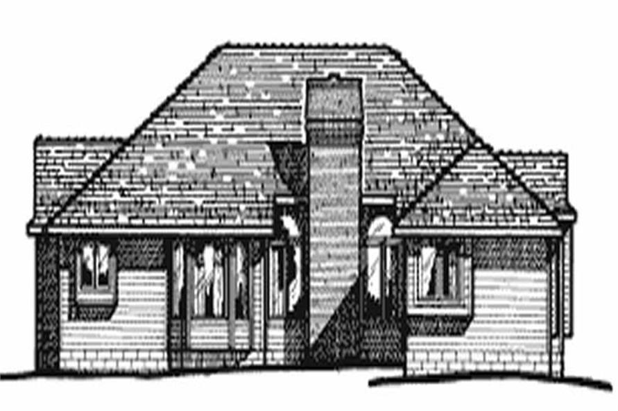 Home Plan Rear Elevation of this 4-Bedroom,2093 Sq Ft Plan -120-1099