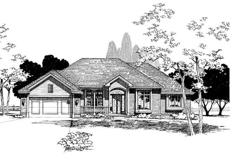 Home Plan Rendering of this 3-Bedroom,1850 Sq Ft Plan -120-1101