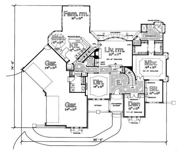 120-1103 house plan first floor