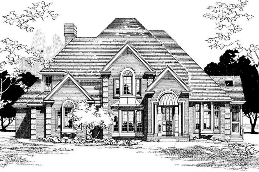 Front Elevation of this 4-Bedroom,3775 Sq Ft Plan -3775