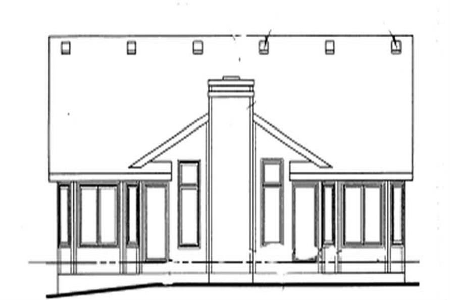 Home Plan Rear Elevation of this 3-Bedroom,1593 Sq Ft Plan -120-1111