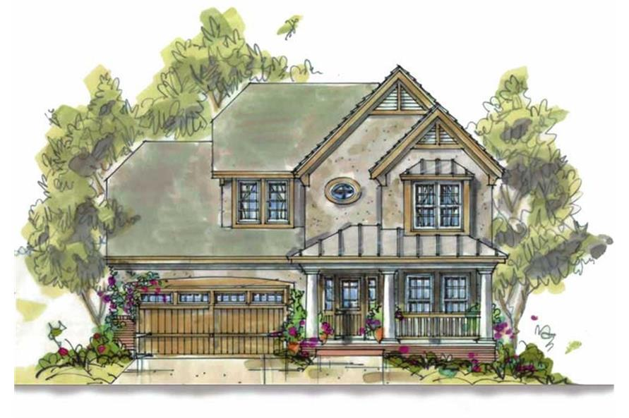 Home Plan Rendering of this 3-Bedroom,1699 Sq Ft Plan -1699