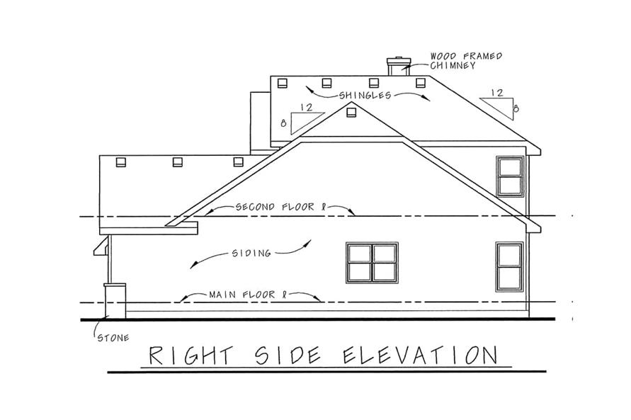 Home Plan Right Elevation of this 3-Bedroom,1818 Sq Ft Plan -120-1120