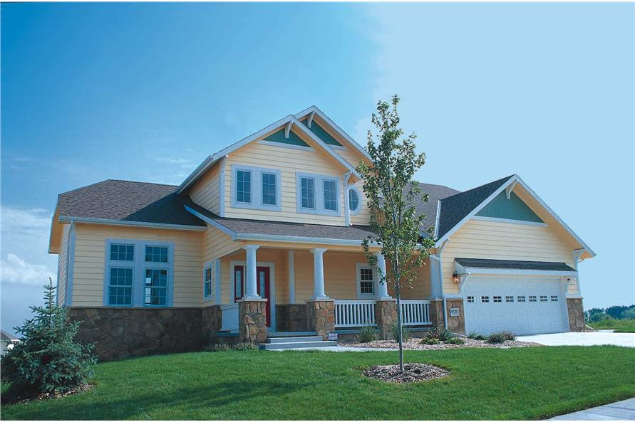 Front View of this 3-Bedroom,1818 Sq Ft Plan -120-1120