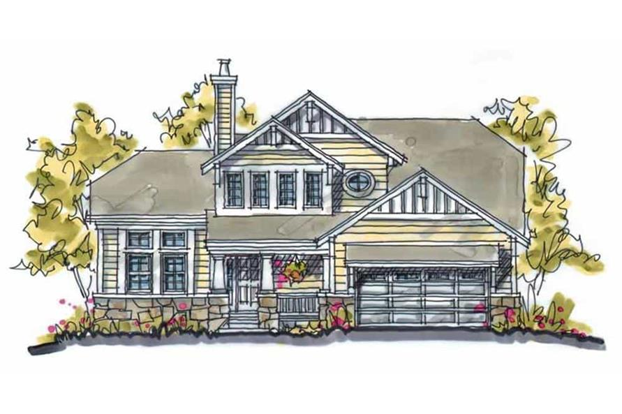 3-Bedroom, 1818 Sq Ft Country House Plan - 120-1120 - Front Exterior