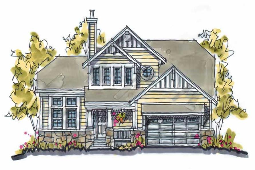 4-Bedroom, 1818 Sq Ft Country House Plan - 120-1120 - Front Exterior