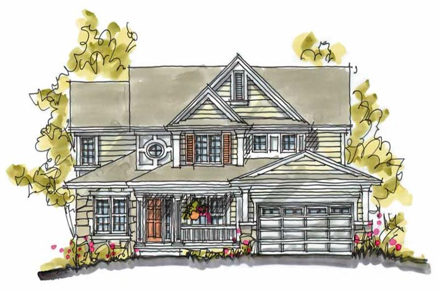 4-Bedroom, 2638 Sq Ft Country House Plan - 120-1121 - Front Exterior