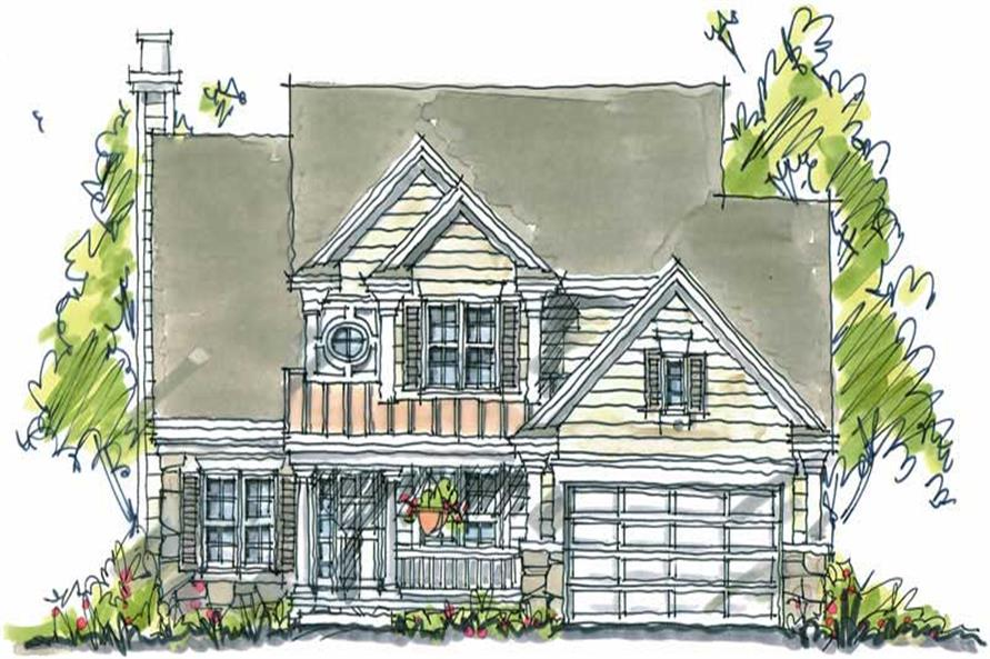 4-Bedroom, 2336 Sq Ft Country House Plan - 120-1123 - Front Exterior