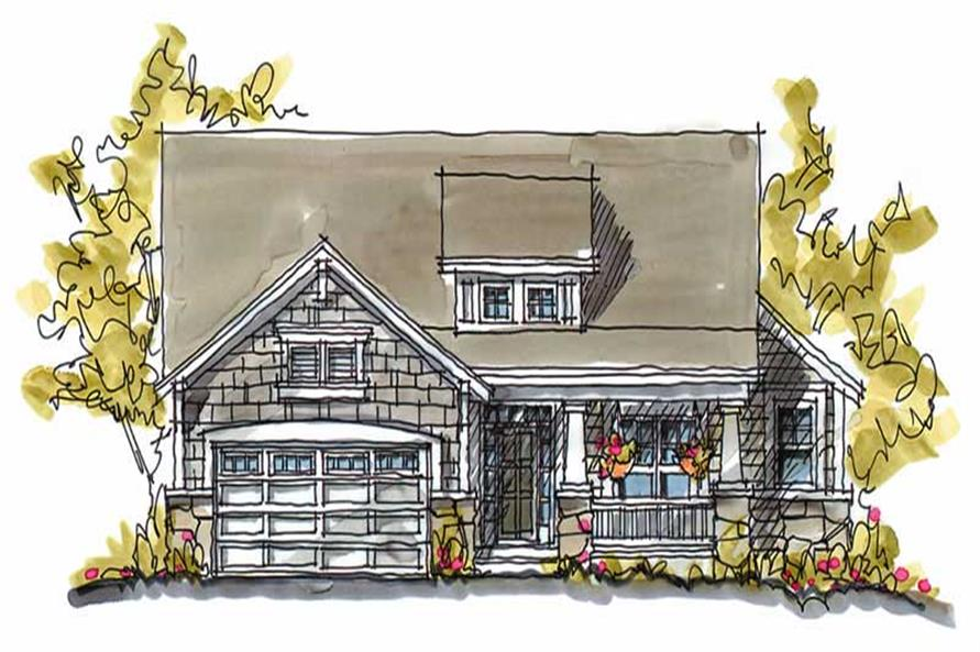 3-Bedroom, 1902 Sq Ft Country Home Plan - 120-1125 - Main Exterior