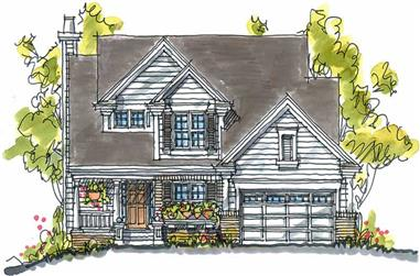 3-Bedroom, 2084 Sq Ft Country Home Plan - 120-1127 - Main Exterior
