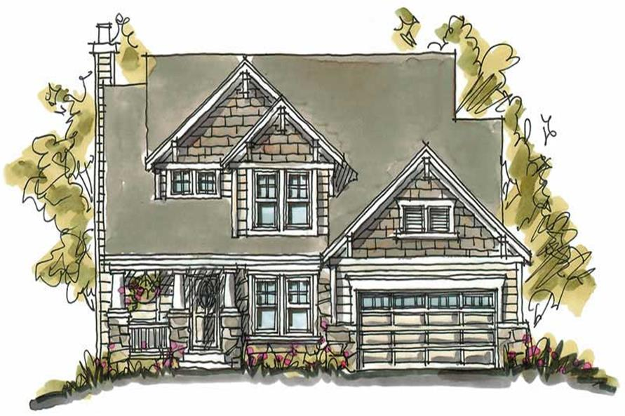 4-Bedroom, 2061 Sq Ft Country Home Plan - 120-1128 - Main Exterior
