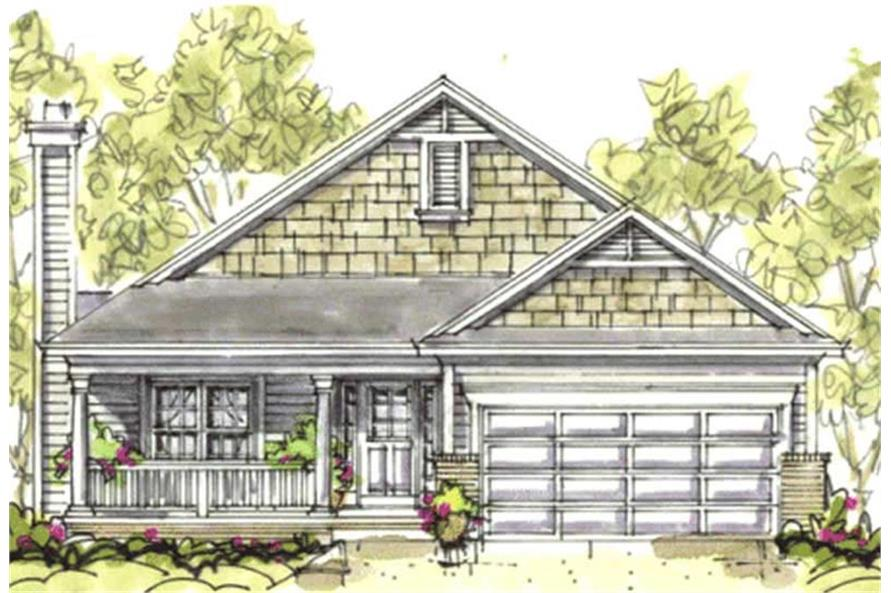 Home Plan Rendering of this 3-Bedroom,1195 Sq Ft Plan -120-1129