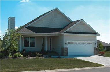 3-Bedroom, 1195 Sq Ft Country Home Plan - 120-1129 - Main Exterior