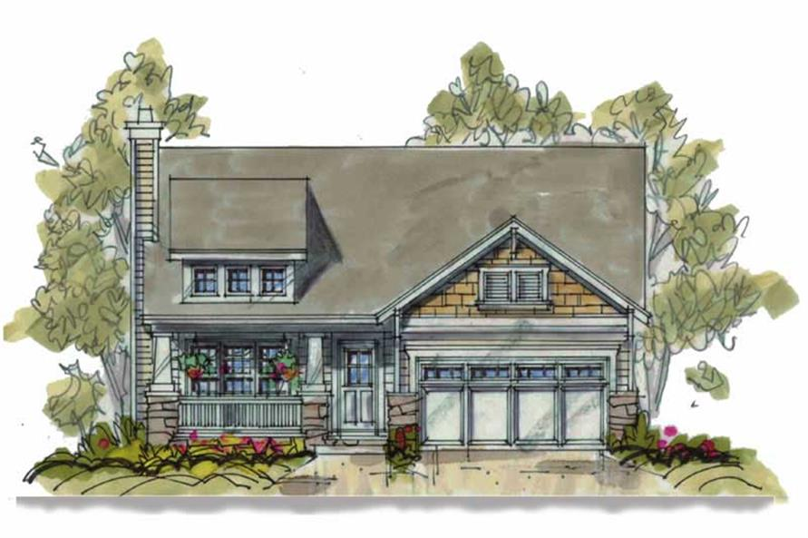 3-Bedroom, 1195 Sq Ft Country Home Plan - 120-1131 - Main Exterior