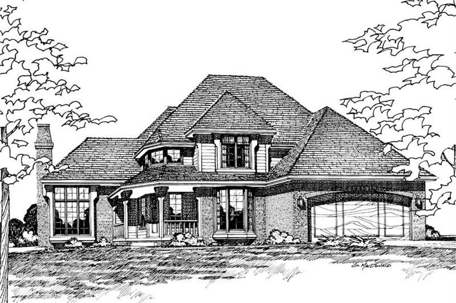 4-Bedroom, 2276 Sq Ft Traditional House Plan - 120-1133 - Front Exterior