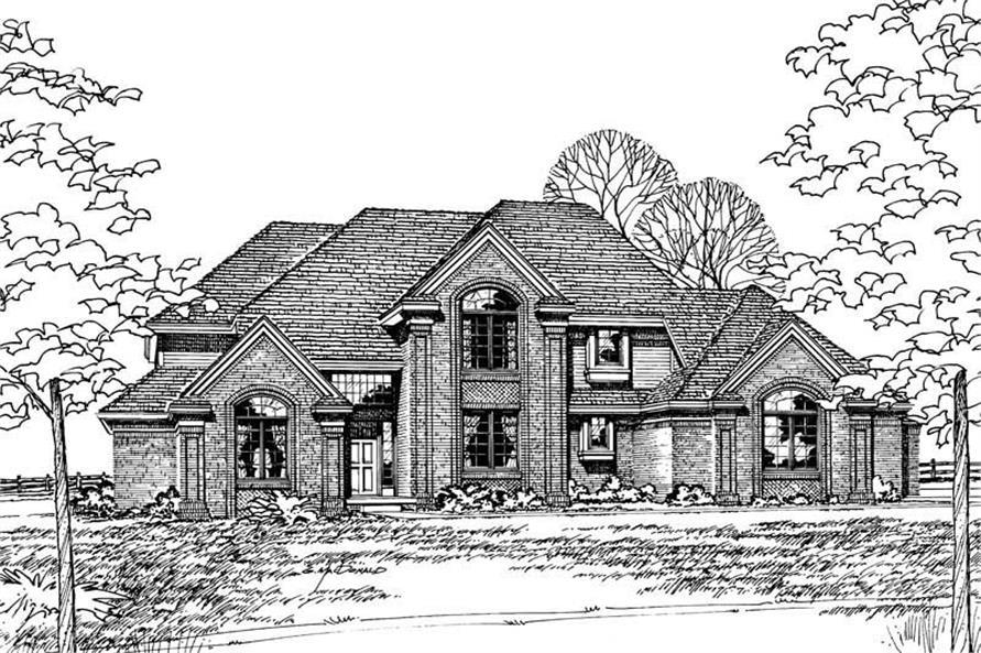 120-1140: Home Plan Front Elevation