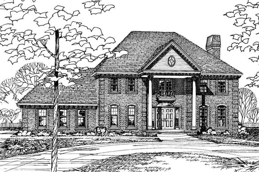 4-Bedroom, 3280 Sq Ft Southern House Plan - 120-1142 - Front Exterior