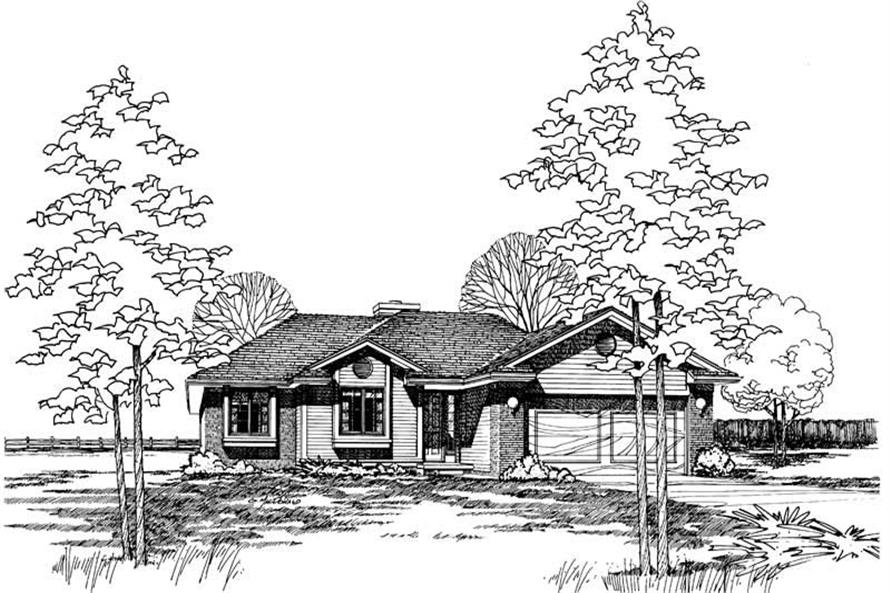 3-Bedroom, 1271 Sq Ft Small House Plans - 120-1145 - Front Exterior
