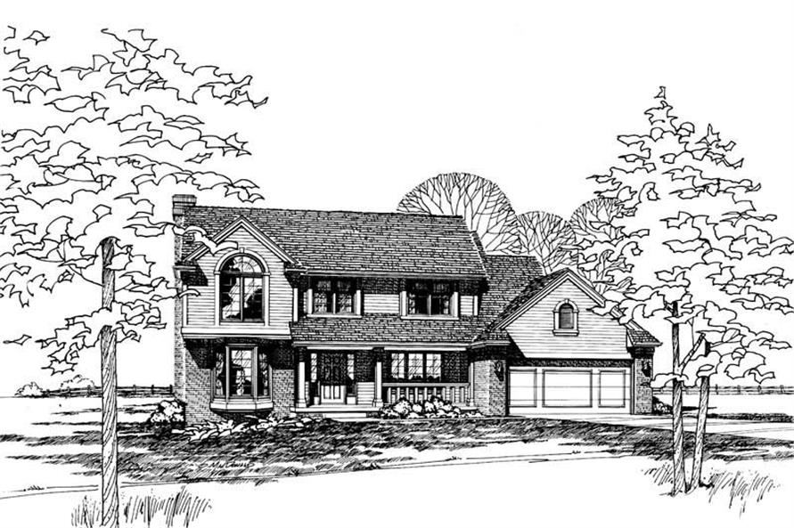 Home Plan Rendering of this 4-Bedroom,2387 Sq Ft Plan -120-1147