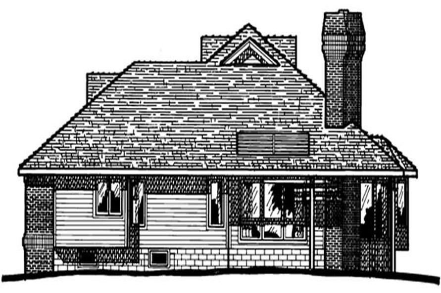 Home Plan Rear Elevation of this 3-Bedroom,2133 Sq Ft Plan -120-1153
